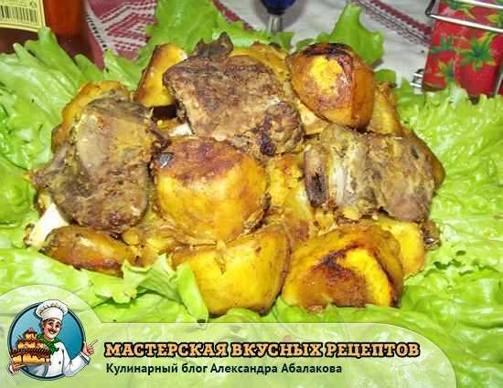 Тушеные говяжьи ребра с картошкой — рецепт с фото пошагово. Как ... | 425x550