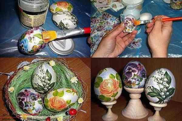 наклеить на яйца рисунок