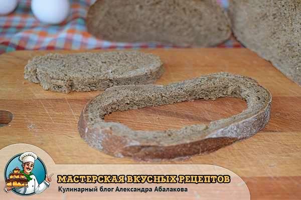 хлебная корка и мякоть